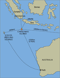 Christmas Island global position